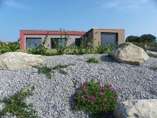maison de plain pied lumineuse vue sur mer, grand jardin, meubles de tourisme 3*