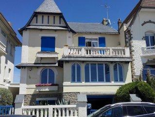 Pornichet. Maison front de mer avec terrasse face mer et jardin avec 5 chambres