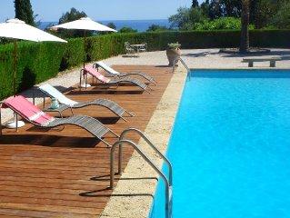 Sainte Maxime, sea view, private estate -Domaine de la Nartelle, large pool, Gym