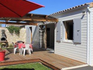 Maison équipée individuelle avec jardin clos à 3kms de la plage de Chatelaillon