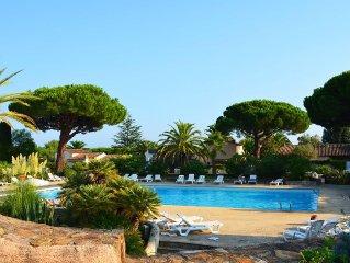 Appartement avec piscine, 300m plages Tahiti, Moorea, Ramatuelle, St-Tropez.