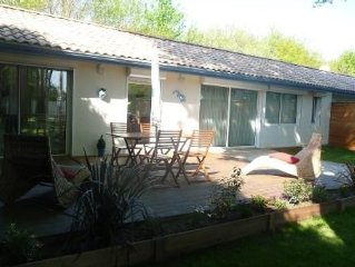 Maison avec jardin et terrasse, pres du bassin d'Arcachon, 4 couchages