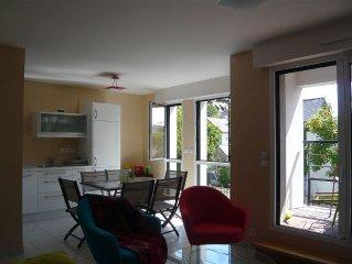 appartement T2 ,WIFI ,  au 1er etage, d'une residence recente avec.ascenseur