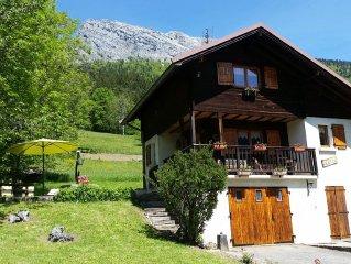Chalet independant 3*, proche des stations des Aravis et du lac d'Annecy