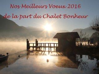 Lac d'Annecy, chalet de charme vue lac et montagnes