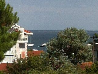 Trés beau T2, grande terrasse, vue Bassin d'Arcachon, au pied Port de Plaisance