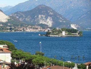 Vista  Lago au centre Stresa, grande terrasse et vue sublime du lac, Wi-Fi, Clim