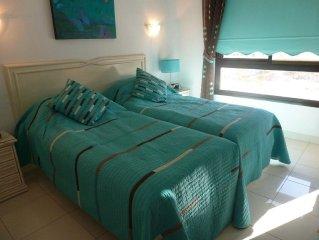 Bel appartement spacieux - vue mer et montagne - centre-ville - 1 km de la plage