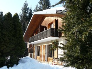 Chalet 10 people 160 m² on the slopes.