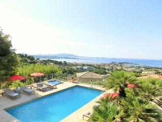 Rental Villa Azur Golf Bandol, sea views, quiet, near downtown, air conditionin