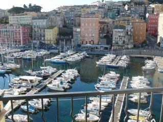 Superbe F4 donnant sur le vieux Port, entierement renove, luxueux et climatise