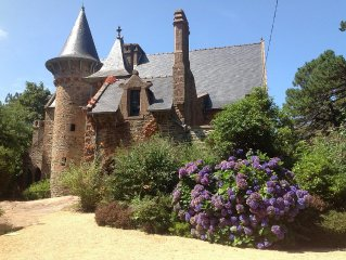 Manoir 1900 avec jardin de 3 ha, Ploumanach Côte de Granit Rose