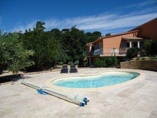 Villa,  piscine chauffee  avec magnifique plage 80 m2, a 300 m de plage sab