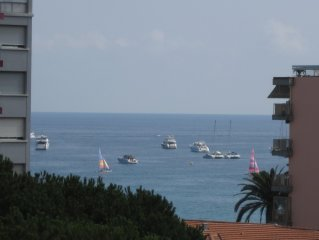 Quiet luxury apartment, sea view terrace; near beach and shops