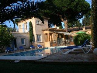 Villa 10 pers a 300 m de la mer, piscine chauffee