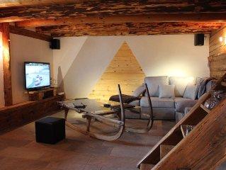 chalet traditionnel 200m² et sauna classé au patrimoine local dans les Aravis 4*