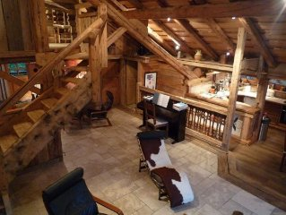 Luxury triplex apartment in a farmhouse - Panorama Mont Blanc 130 m2