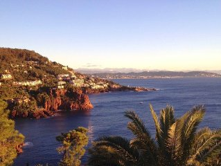 Waterfront, spectacular view, 4p residence. terrace, quiet, private road, parki
