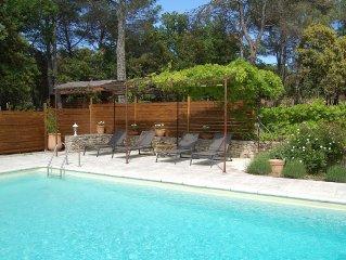 LUBERON -  Maison de charme en pierre avec piscine privee dans bel environnement