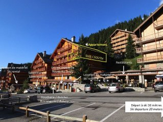 Duplex 70 m2 with large balcony, 20 meters starting skiing, near shops
