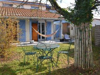 Proche Arcachon jolie maison calme 4 ch 8 /10 pers jardin piscine hors sol bois