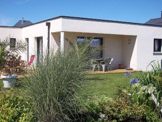 Jolie maison moderne paysagée avec SPA à Beaussais sur Mer