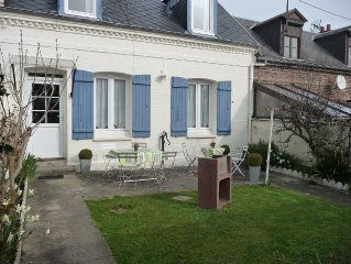 DIEPPE house with garden facing due south, the sea is 500 m