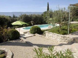 Belle Villa provencale, calme, vue Luberon, Piscine privee chauffee, Golf