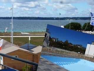 Luxury apartment 3 *** New, sea view, 2/3 Pers. heated pool. Wifi, Thalasso