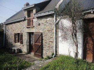 Maison bretonne traditionelle, presqu'île de Rhuys, Morbihan