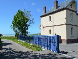 Villa Chante-Brise : vue magnifique sur la mer et les falaises à 12 km de Dieppe