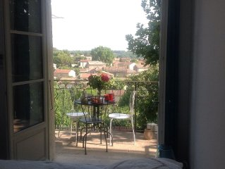 In the old village house on the wide open landscape of Provence