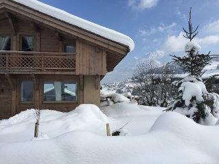 Superbe chalet face au Mont Blanc
