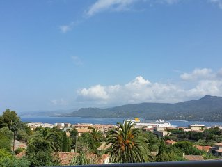 T3 a PROPRIANO  50 m2( chambres 2) terrasse vue except. mer/montagne+PISCINE