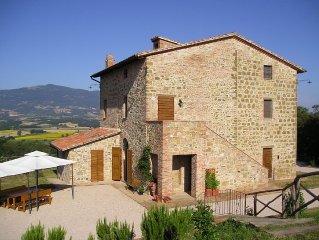 Maison a la campagne, avec jardin et piscine cloturee entre Ombrie et Toscane