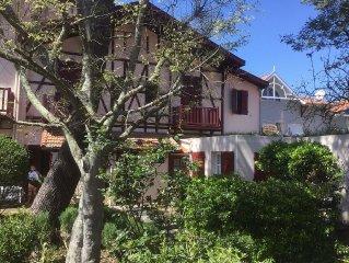 Agreable appartement T2 avec jardin , village du Moulleau , plage 50 m