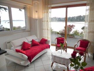 ** Superbe vue mer ** dans appart tt confort 4 p, accès direct plage, park,wi-fi
