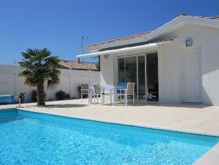 Au bord du bassin d'Arcachon, villa récente 4/6 personnes avec piscine chauffée