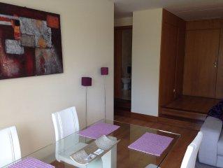 Appartement T1, 1 chambre, grande terrasse avec piscine/golf/tennis
