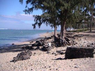 Studio charmant 100m plage protege par un lagon (pas de requin), Rsd calme