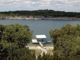 Lake Travis Waterfront; Private Boat Dock in Deep Water 75 Inch TV; Pool Table