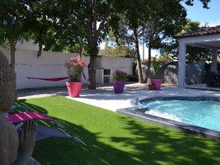 Villa neuve  standing  8/9 pers.3 ch 2 sdb piscine privee proche mer et plages