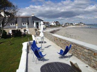 Maison de charme en bord de plage abritee.capacite 12 personnes.