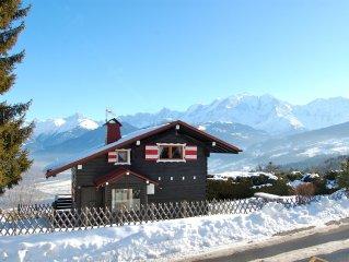 Accueillant, chaleureux, confortable, magnifique vue, proche Megève, St Gervais
