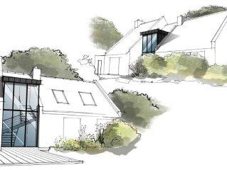 Villa d'architecte Arradon, 200 m2, bord de mer, residence privee de Ker Jaffre