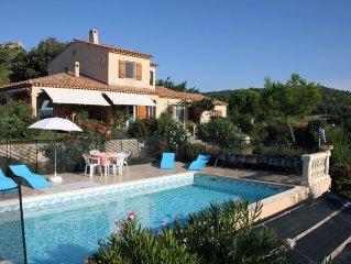 Gîte F2 dans villa provençale, au calme, piscine et  jardin,vue Ste Victoire
