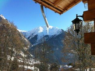 Chalet chaleureux en bois pour 12  personnes, Chamonix, vue imprenable Mt Blanc