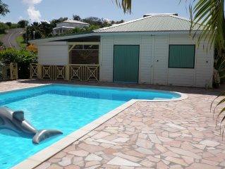 bungalow avec piscine - le gosier