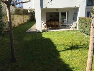 Ciboure Apt T4 standing, jardin, piscine/résidence prox. tous commerces et gare