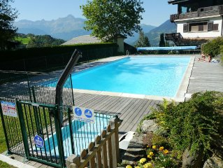Apartment St Gervais Mont Blanc, 8 people, 2 bedrooms, ground floor, terrace, s